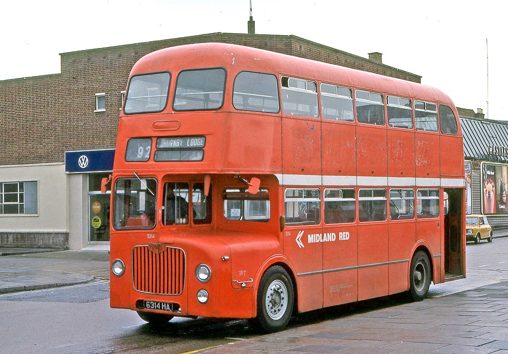 Midland Red 5314 6314ha In Leicester 1963 Bmmo D9 H40