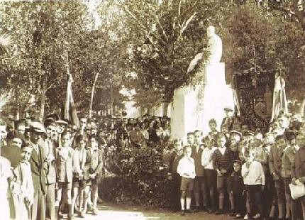 Inaguración del monumento a Salvador Giner Vidal en La Glorieta.