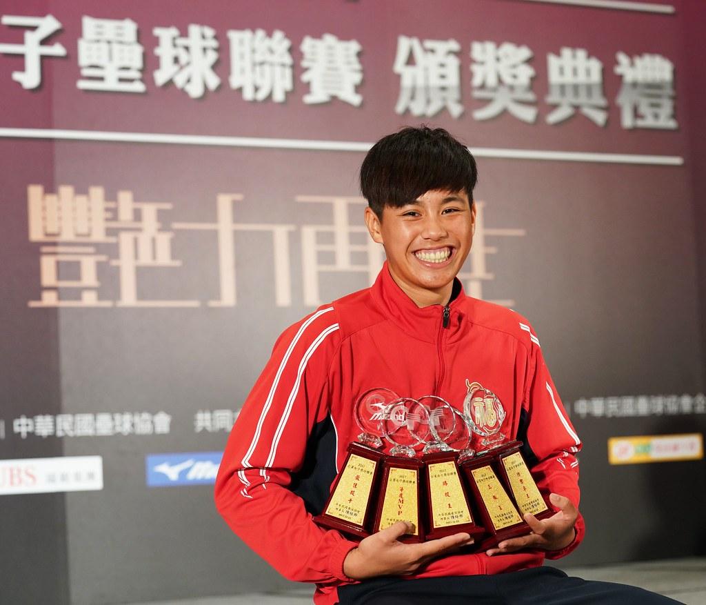 福添福嘉南鷹投手杜雅婷囊括5項大獎。(壘協提供)