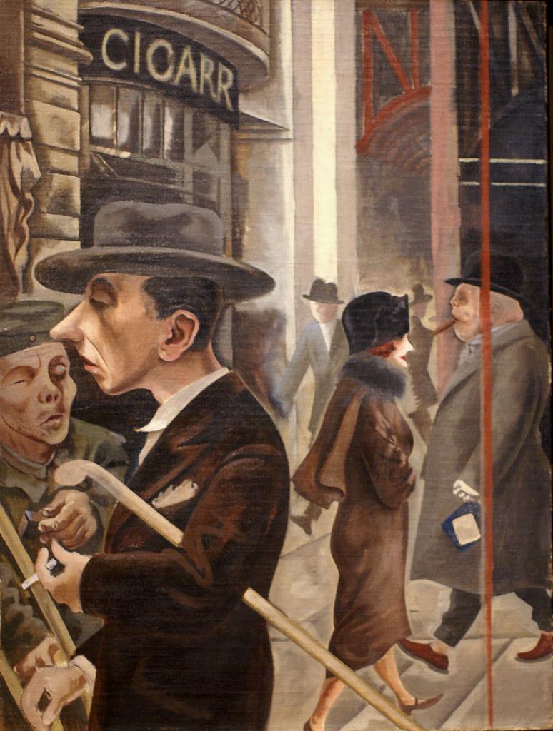 George Grosz, Straßenszene (Kurfürstendamm) / Street scene… | Flickr