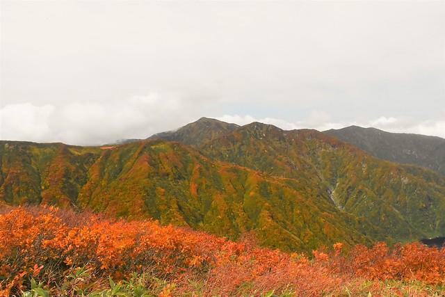 朝日連峰・以東岳から眺める大朝日岳