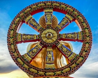 Golden Buddha Wheel Wat Huay Yai | by Living In Thailand