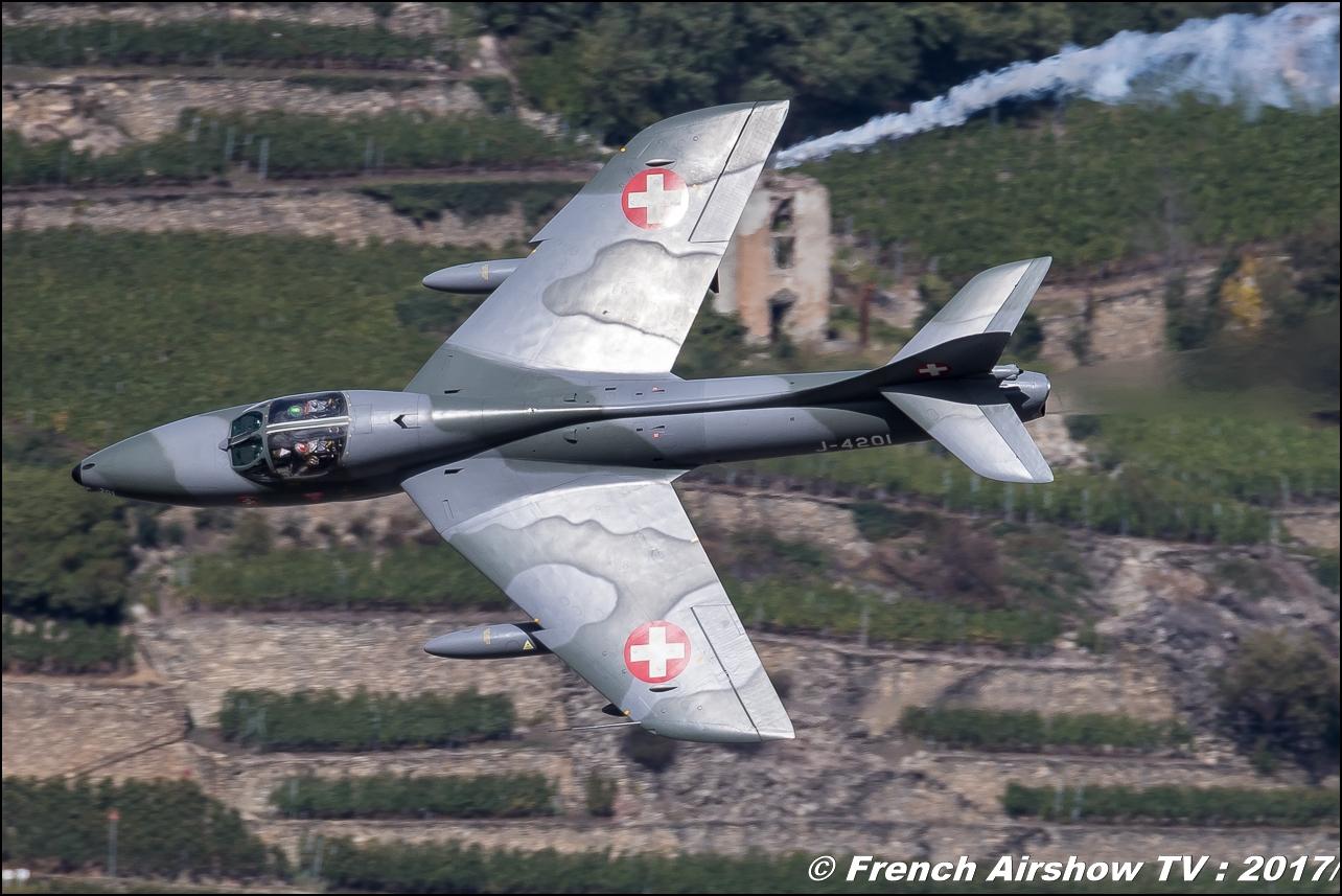 Hunter T.Mk.68 - Amici Dell'hunter , HB-RVR , J-4201 , Breitling Sion Air Show 2017 , sion airshow , montagne , Alpes suisse , Canton du Valais , Meeting Aerien 2017
