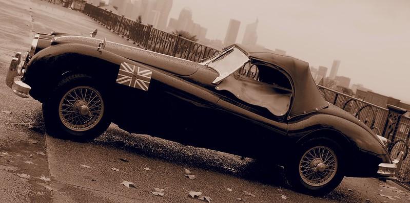 Jaguar XK140 E.S. culasse type C 1956 -  Suresnes (92) Novembre 2017 38358196381_8d7c420756_c