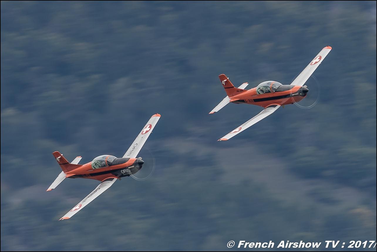 Pilatus PC-7 , T7-FMA , T7-FUN - Oris swiss watch , ORIS , Breitling Sion Air Show 2017 , sion airshow , montagne , Alpes suisse , Canton du Valais , Meeting Aerien 2017