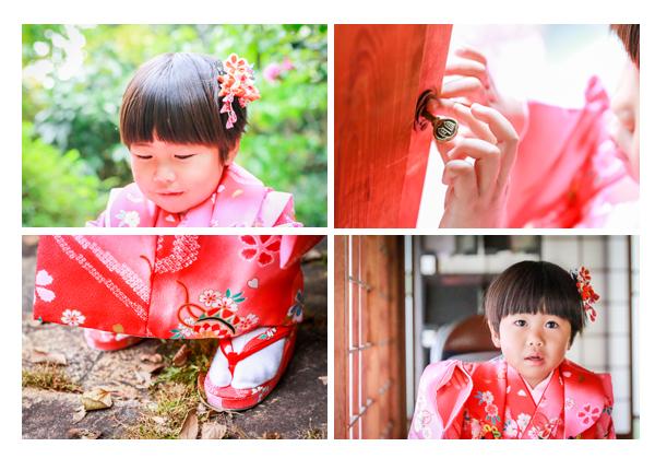 窯垣の小径(愛知県瀬戸市)でロケーションフォト 七五三写真の出張撮影 自然でオシャレな家族写真