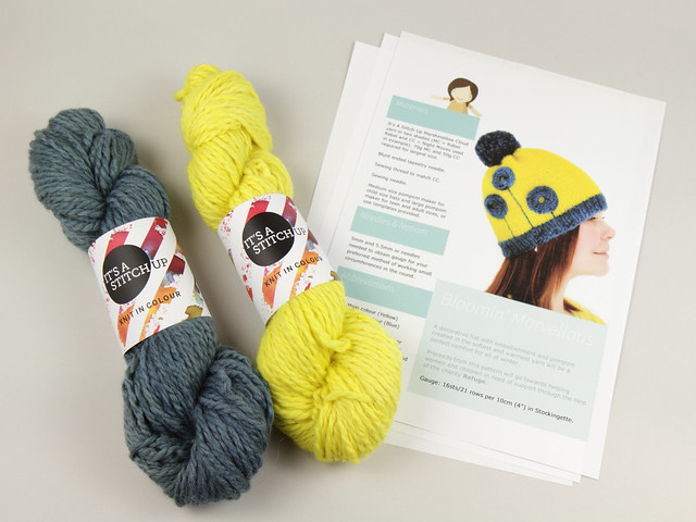 Bud to Bloom Hats by Mimi Codd – yarn & pattern knitting kit supporting Refuge