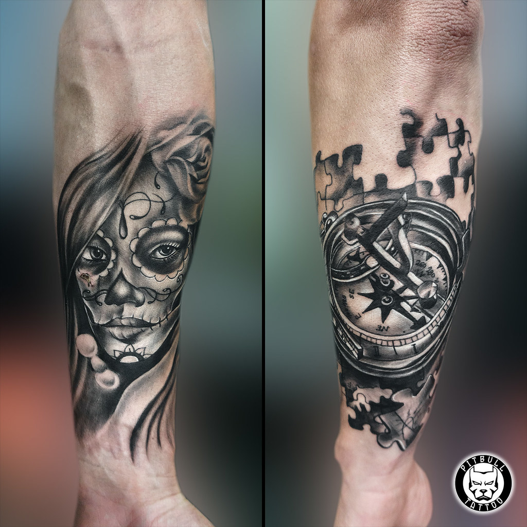 Chicano / Compass Tattoo | tattoo.pitbullgroupthailand.com | Flickr