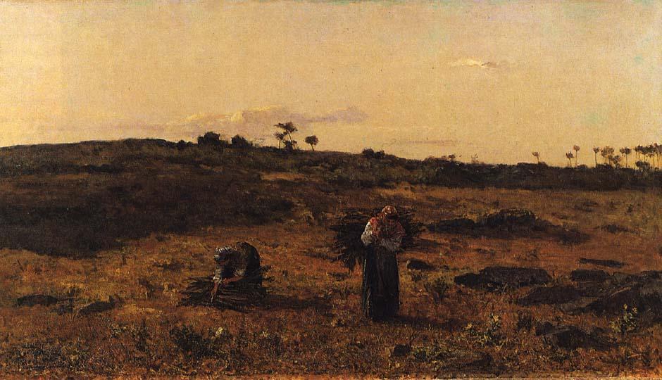 Charneca de Belas ao Pôr-do-sol, Lisboa (Silva Porto, 1879)