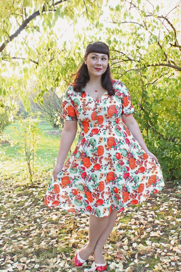 hell bunny pumpkin dress