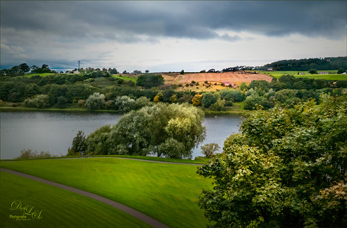 View from Linlithgow Palace in Scotland