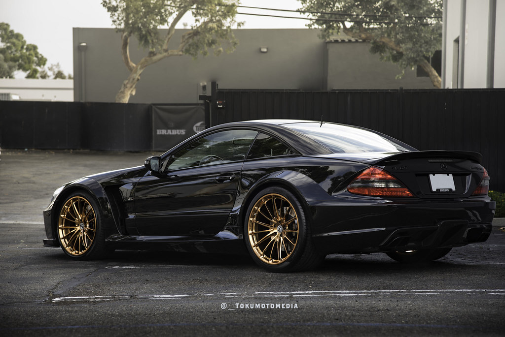Hre Wheels Mercedes Benz Sl65 Black Series With Hre P103 Wheels In Polished Copper