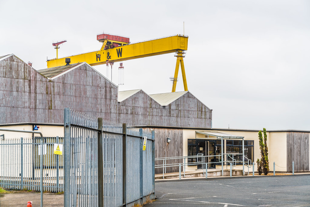 VIEW OF THE FAMOUS CRANES [SAMSON AND GOLIATH IN BELFAST] 007
