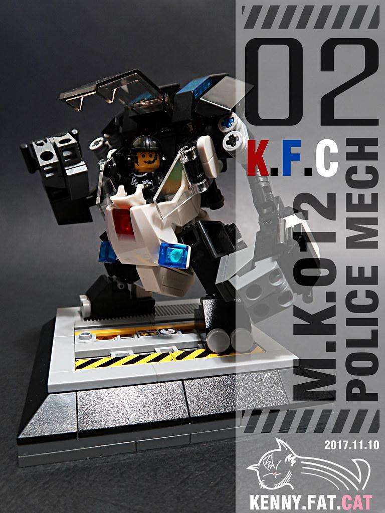 【肥貓˙重工】人型機甲M.K.-012 police Mech 02 ( 復刻版 )