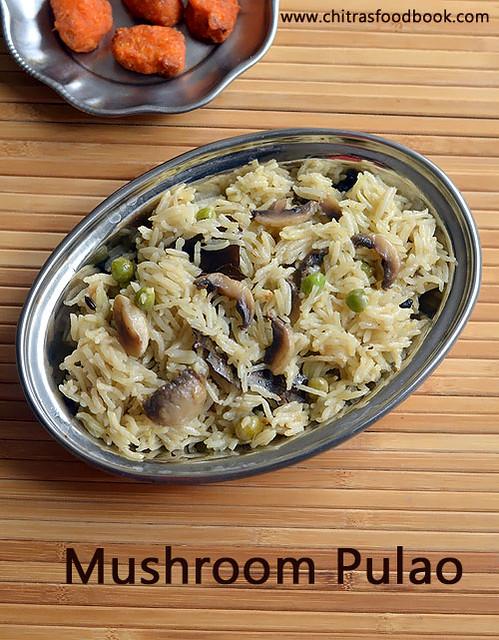 Mushroom peas pulao recipe