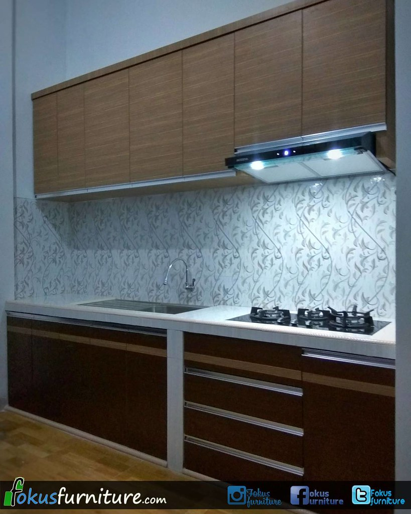 Kitchen Set Minimalis Model Lurus Lis Aluminium Di Kampung Flickr