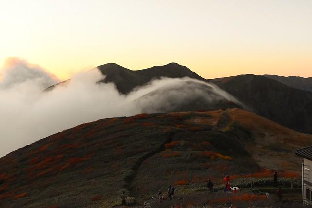 竜門小屋からの滝雲