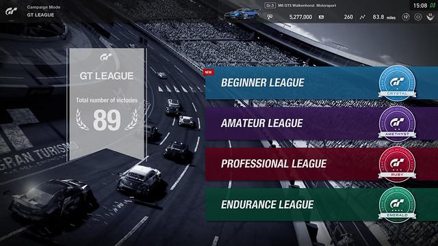 Gran Turismo Sport - GT League (Mode Solo)