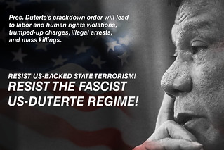 Image of Philippines President Duterte with the words \