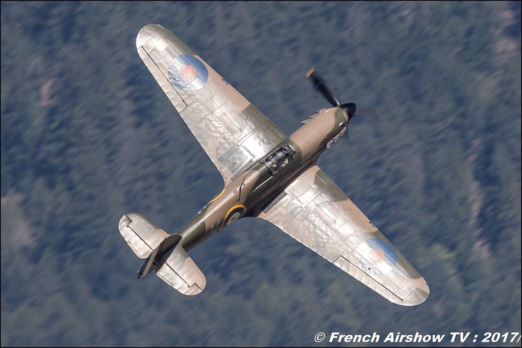 Hawker Hurricane Mk IIa - F-AZXR , Breitling Sion Air Show 2017 , sion airshow , montagne , Alpes suisse , Canton du Valais , Meeting Aerien 2017