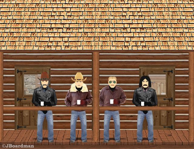 Jones Gang on the Codger Lodge deck ©JBoardman