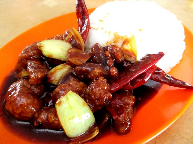 Chopsticks kung pao chicken with rice