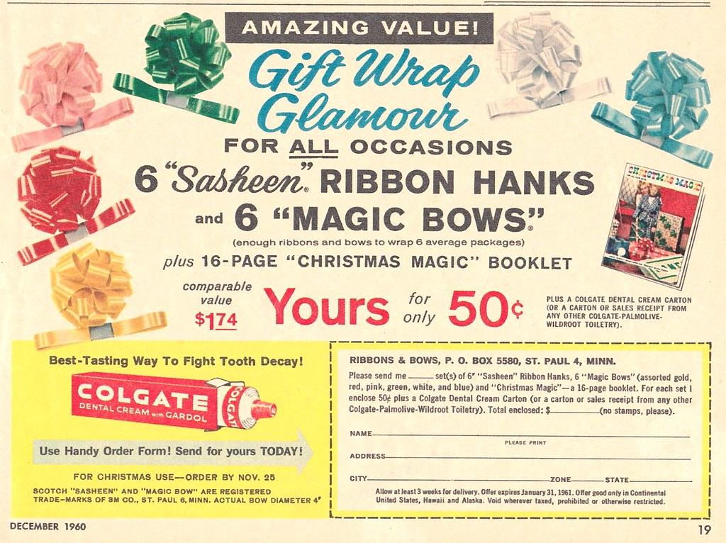 vintage sasheen ribbon and magic bows promo 1960 david