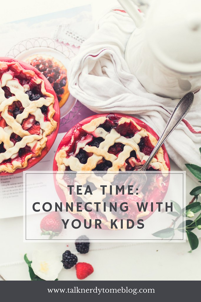 Connecting with your kids around the dinner table. Whether it's a meal or just some tea, time together is not wasted.
