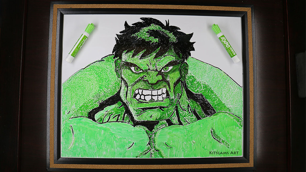 ... Whiteboard Art   Incredible Hulk Drawing | By Kitslams Art