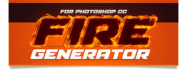Fire generator photoshop action flame text effect