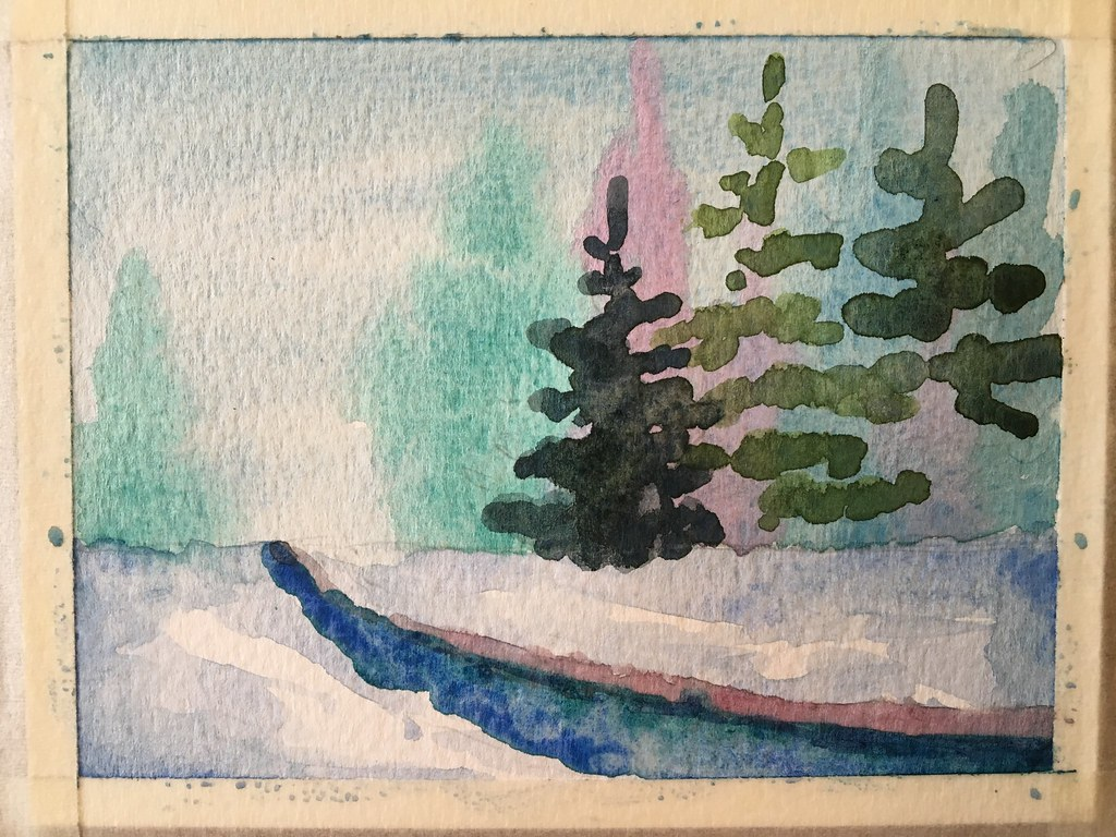 Watercolor Christmas cards step by step | lets_paint_nature | Flickr
