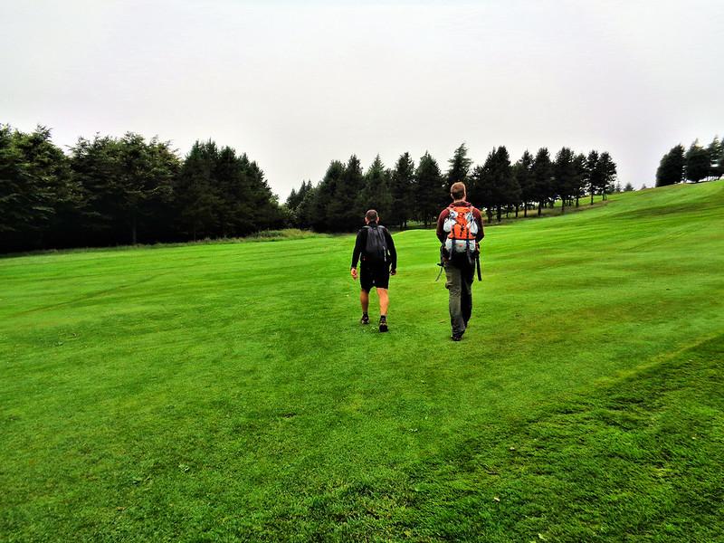 Walking through Nelson Golf Club