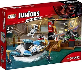 10755 - Zane's Ninja Boat Pursuit set - box art | by Brick Samurai