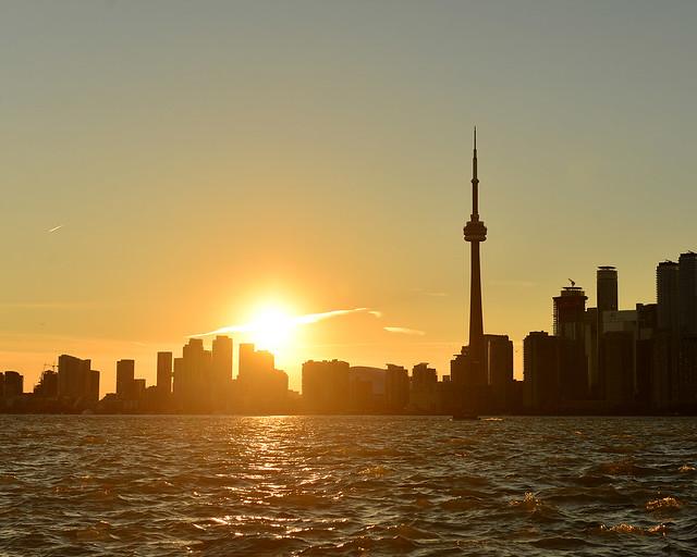 El skyline de Toronto al atardecer