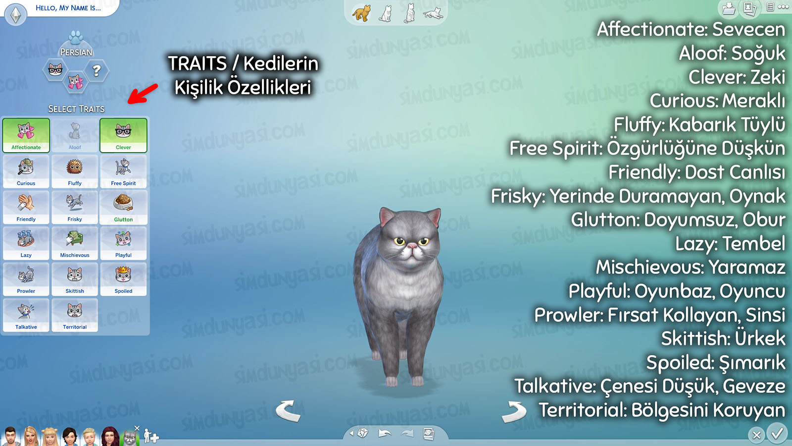 The Sims 4: Cats & Dogs Create a Pet Traits