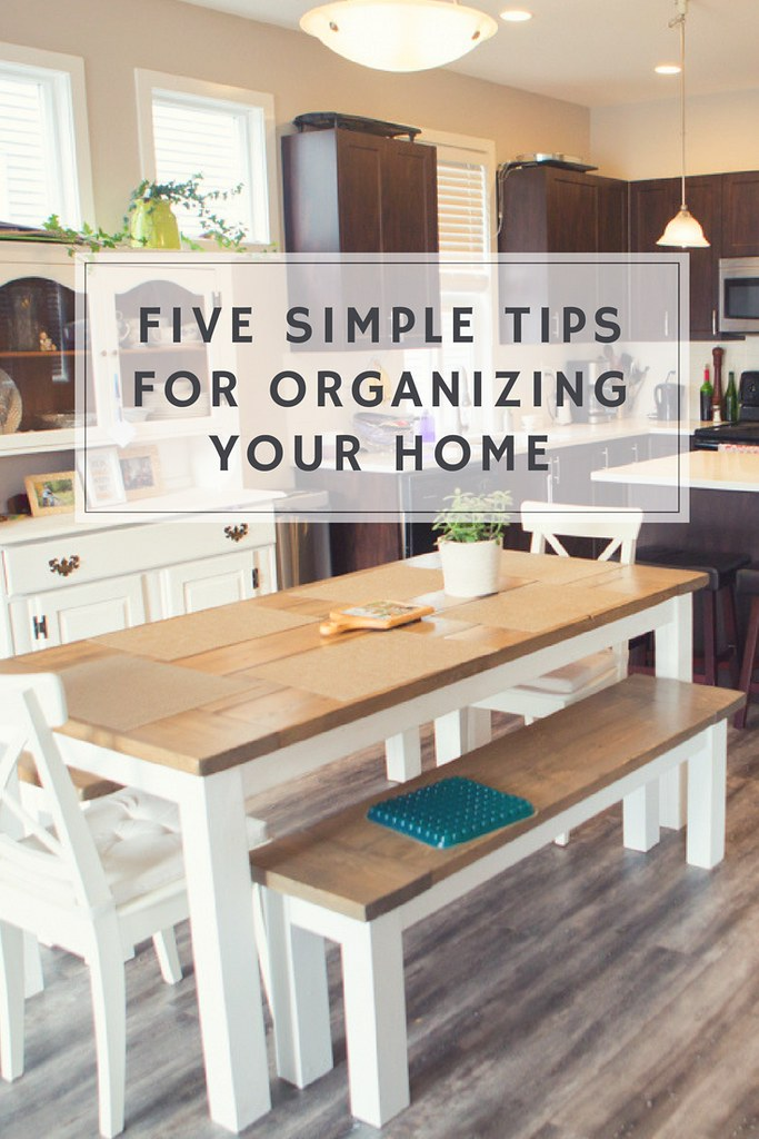 Five simple tips for organizing your home. If you have kids you likely need a system for backpacks, toys and shoes! This is a great resource.