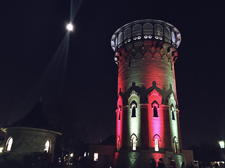 Water Tower at Night | by Riverside, Illinois