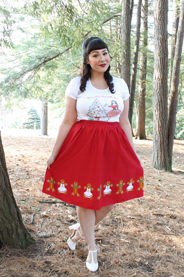christmas pinup t-shirt