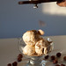 White truffle, white chocolate hazelnut ice cream topped with fresh white truffles