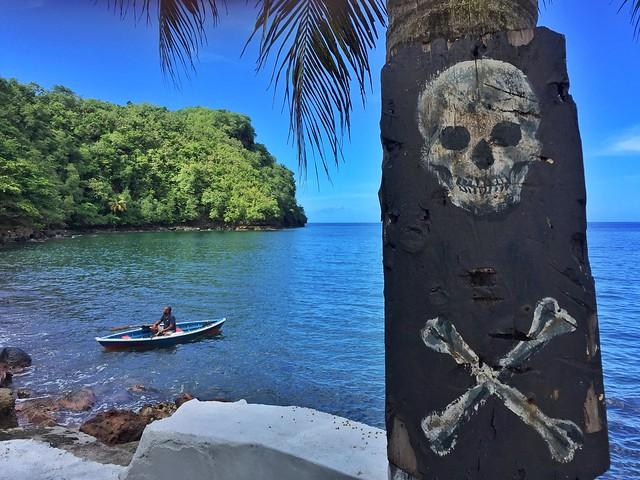 Wallilabou Bay, uno de los escenarios principales de Piratas del Caribe en San Vicente y las Granadinas