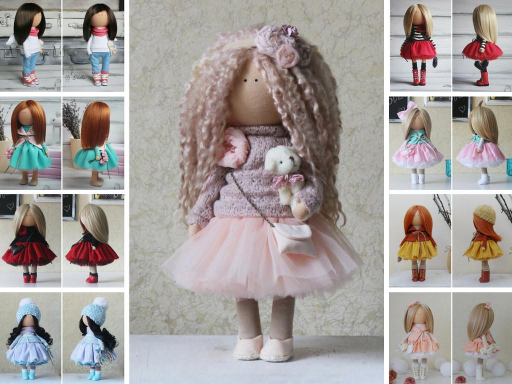 Textile doll Tilda doll Rag doll Art doll Pink doll Soft d ...