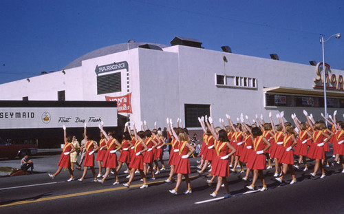 High school drill team | by Pasadena Digital History