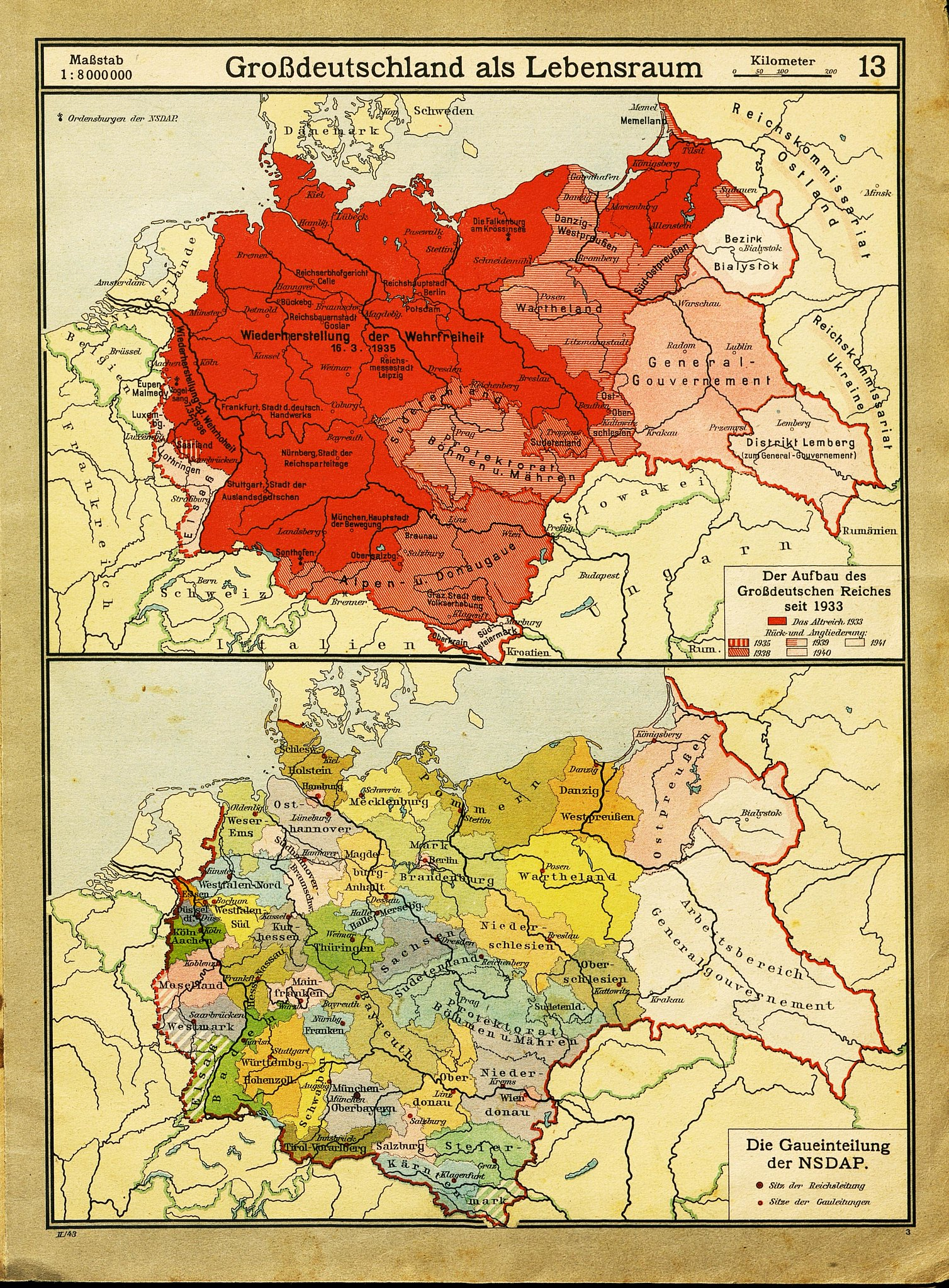 Expansion And Administrative Divisions Of Nazi Germany 1943 1508 X