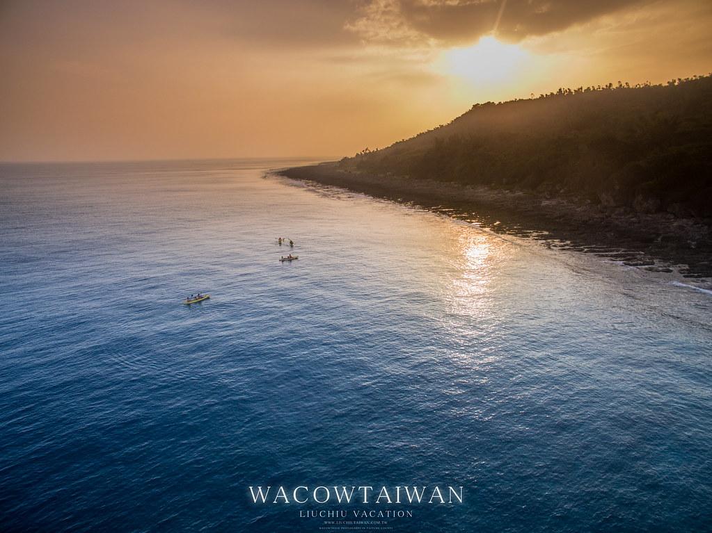 小琉球獨木舟體驗夕陽行程-哇靠小琉球民宿也推薦