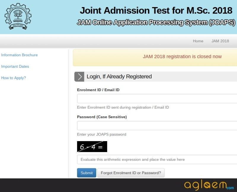 IIT JAM Admit Card 2018 Released - Download Here