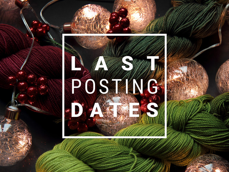 Last Posting dates for Christmas