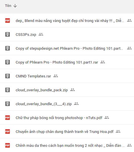 Tổng hợp tài nguyên photoshop link drive - Kho Đồ Họa