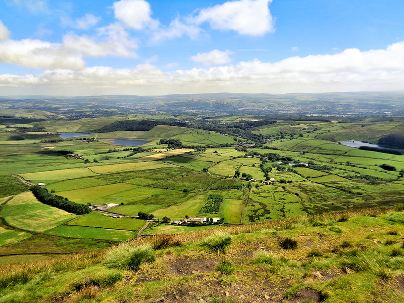 The amazing view from Pendle Hill