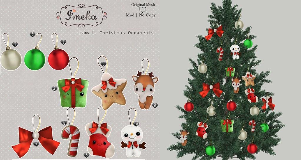 Imeka} kawaii Christmas Ornaments @ Tannenbaum | SOON | Nati ...