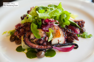 Grilled octopus, Taggiasca black olives, potato and .red onion from Tropea | by thewanderingeater